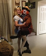 Mad Hatter and Alice in Wonderland Homemade Costume