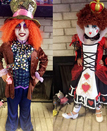 Mad Hatter and Queen of Hearts Homemade Costume
