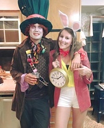 Mad Hatter and White Rabbit Homemade Costume