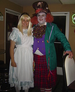 Mad Hatter & Alice in Wonderland Couple Costume