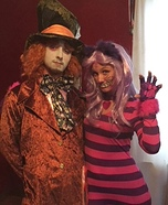 Mad Hatter & Cheshire Cat Couple Costume