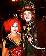 Mad Hatter and Queen of Hearts Homemade Costumes
