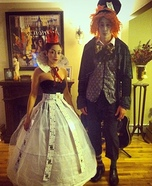 Mad Hatter & Queen of Hearts Homemade Costume