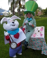 Mad Hatter & White Rabbit Homemade Costumes