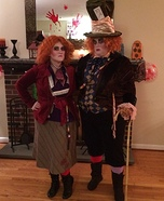 Mad Hatters Couple Homemade Costume