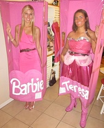 Barbie and Teresa in the Box Costumes