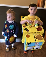 Magic School Bus and Miss Frizzle Homemade Costume