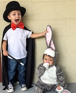 Magician and his Rabbit Homemade Costume