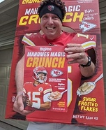 Mahomes Magic Crunch Cereal Homemade Costume