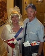 Mail Order Bride & Special Delivery Mailman Costume