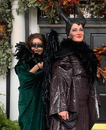 Maleficent and Crow Homemade Costume