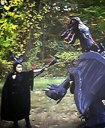 Maleficent and her Dragon Homemade Costume