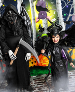 Maleficent and her side kick Homemade Costume