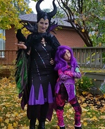 Maleficent and Mal from Decendants Homemade Costume