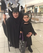 Maleficent and Mini Maleficent Homemade Costume