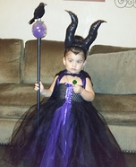 Maleficent Toddler Homemade Costume