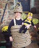 Mama Beehive and Baby Bee Homemade Costumes