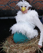 Mama Bird Sitting on Her Nest Homemade Costume