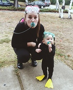 Parent and baby costume ideas - Mama & Baby Scuba Cuties Costume