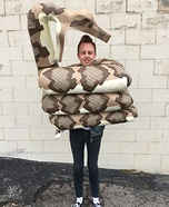 Man Getting Eaten by Snake Homemade Costume