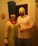 Homemade Marge and Homer Simpson Costumes