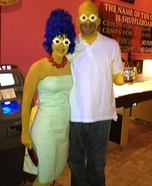 Marge and Homer Simpson Couple Costume
