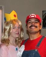 Mario and Peach Homemade Couple Costume