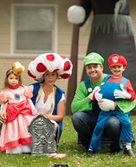 Mario Brothers and Family Homemade Costume