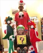 Mario Family Homemade Costume