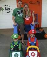 Mario Kart Family Homemade Costume