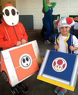 Mario Kart Shyguy and Toad Homemade Costume