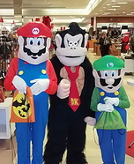Mario, Luigi, and Donkey Kong Homemade Costume