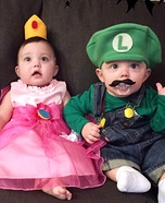 Mario, Luigi, and Princess Peach Homemade Costume