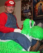 Homemade Mario and Yoshi Costume