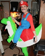 Illusion costume ideas - Mario Riding Yoshi Costume