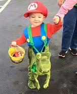 Mario Riding Yoshi Homemade Costume