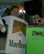 Homemade Marlboro Lights & Bic Lighter Costumes