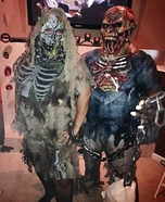 Married Zombie Couple Homemade Costume