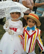 Marry Poppins and Bert Homemade Costume