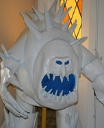 Marshmallow Snow Monster Homemade Costume