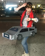 Marty Mcfly with Delorean Homemade Costume