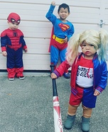 Marvel vs DC Kids Homemade Costume