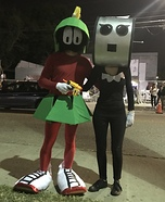 Marvin the Martian and Rosie from the Jetsons Homemade Costume