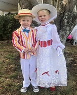 Mary Poppins and Bert Homemade Costume