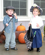 Mary Poppins and Bert the Chimney Sweep Costumes for Kids