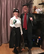 Mary Poppins and Bert the Chimney Sweep Homemade Costume