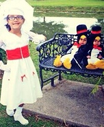 Mary Poppins and her Dancing Penguins Homemade Costume