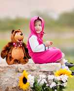 Masha and the Bear Homemade Costume