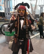 Mashed up Johnny Depp Characters Homemade Costume