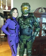Master Chief and Cortana Homemade Costume